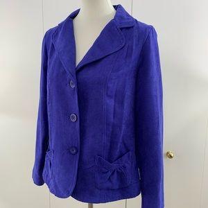 Kim Rogers Signature M blazer faux suede blue